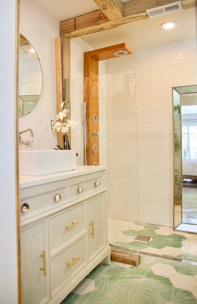 Master Bathroom Remodel With Custom Encaustic Cement Tile Reclaimed