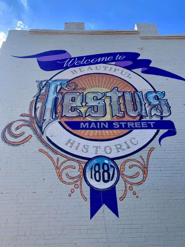 Festus Main Street Mural: 115 E Main St, Festus, MO