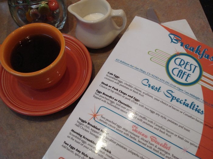 Crest Cafe Menu San Diego Ca