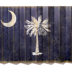 Photo Of Carolina2California   Greenville, SC, United States. Vintage South  Carolina Flag