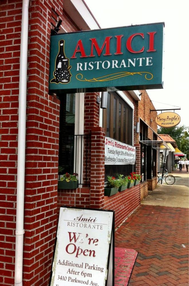 Amici Restaurant Richmond Va Menu