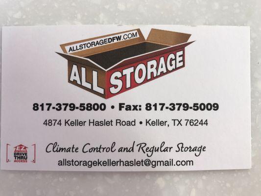 Ordinaire All Storage   Keller Haslet 4874 Keller Haslet Rd Keller, TX Storage    MapQuest