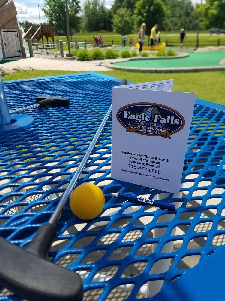 Eagle Falls Adventure Golf & Laser Tag: 1040 E Pine St, Eagle River, WI
