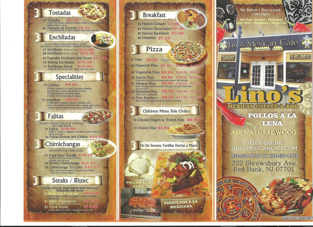 Linos Mexican Cafe Menu