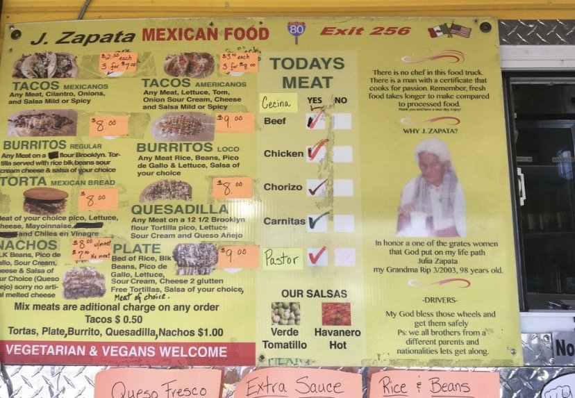 JZapata Taqueria Truck: 6 W Butler Dr, Drums, PA