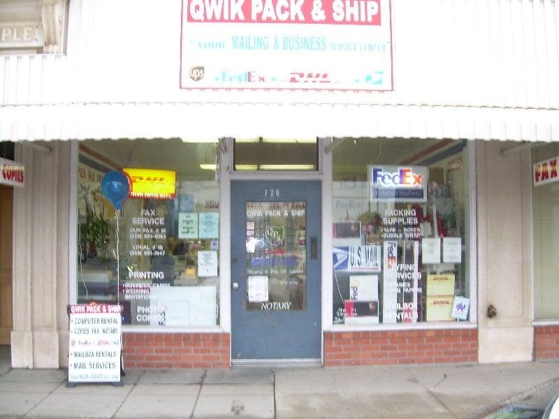 Qwik Pack & Ship: 120 S K St, Dinuba, CA