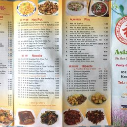 photo of asia kitchen knoxville tn united states menu front - Asia Kitchen Menu