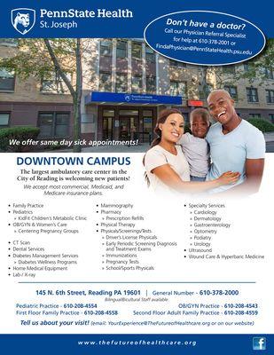 Penn State Health St Joseph Downtown Reading Medical