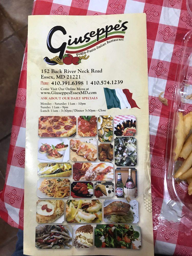 Giuseppe's Italian Restaurant: 152 Back River Neck Rd, Essex, MD