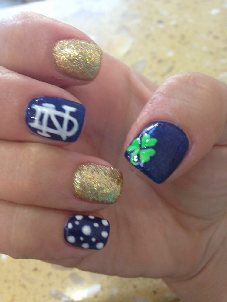 Notre dame freehand nail art design by Kimberly - Yelp