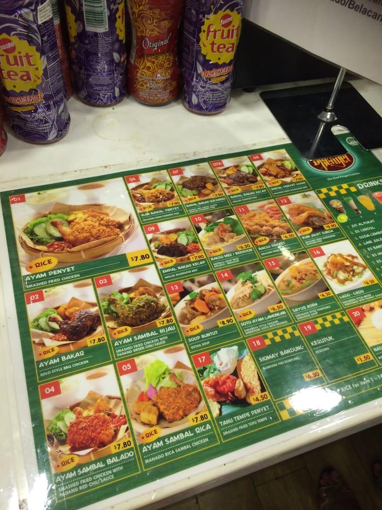 Photo Of Dapur Penyet Singapore Menu At Cashier Too