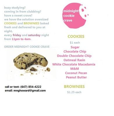 Midnight Cookie Crave - Desserts - 90 Wingarden Ct, Scarborough ...