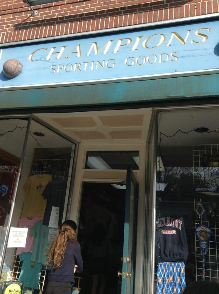 Champions Sporting Goods: 53 Leonard St, Belmont, MA