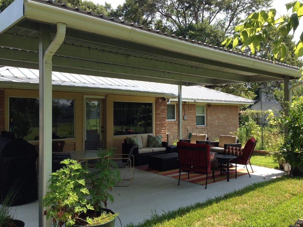 Photo Of Kool Covers Houston Tx United States Galvanized Steel Patio Cover