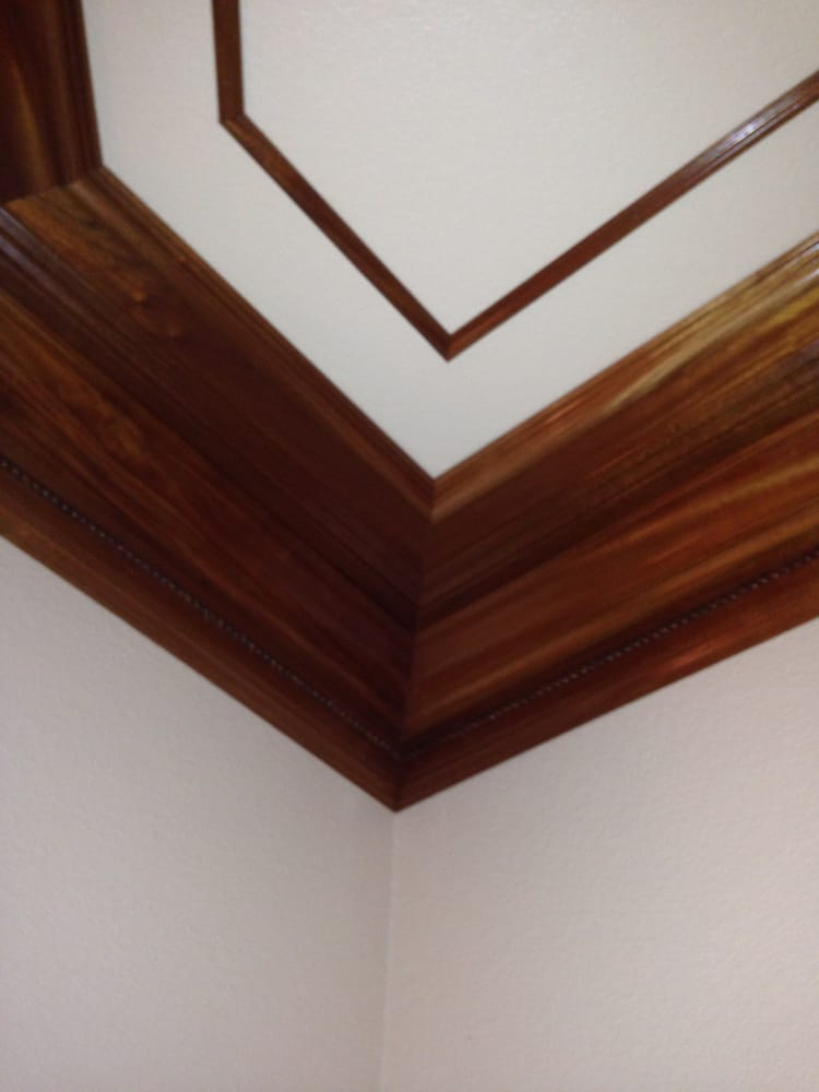 Mahogany Crown Using 2 Bases Crown 1x4 Rabbetted Panel