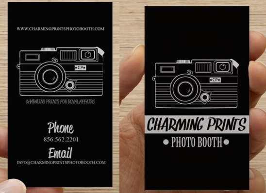 Charming prints photo booth business card yelp photo of charming prints photo booth sicklerville nj united states charming prints reheart Image collections