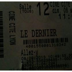 UGC Ciné Cité Internationale - Lyon, France. Vraiment bien ce film....