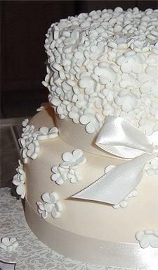 Simple White Flower Wedding Cake Yelp