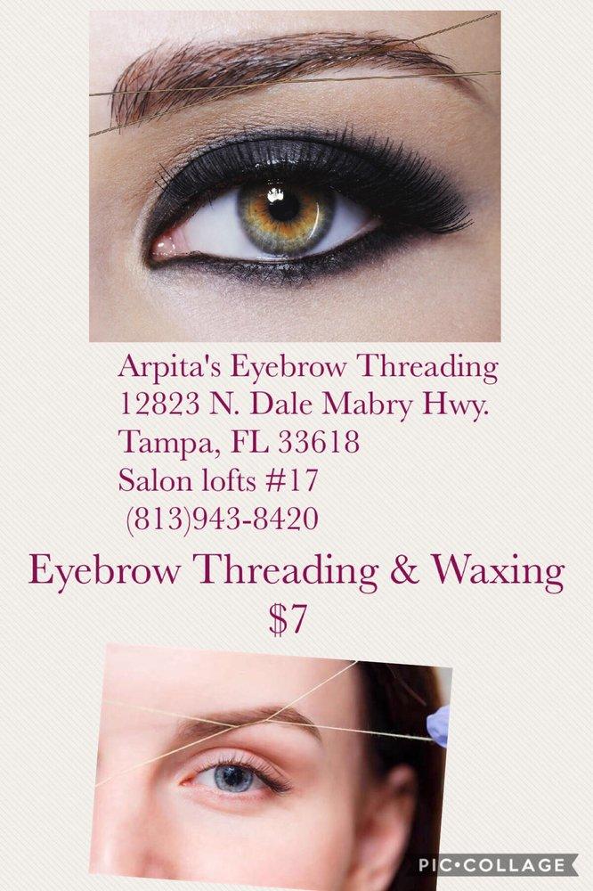 Arpitas Eyebrow Threading Waxing 12823 N Dale Mabry Hwy Tampa
