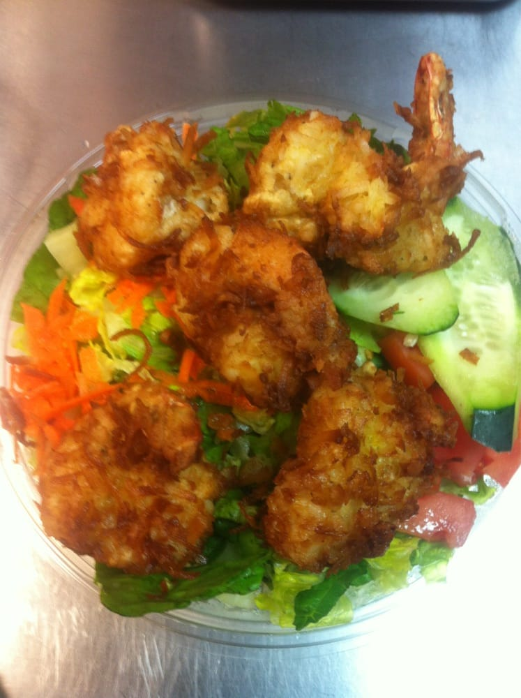 Coconut shrimp salad - Yelp