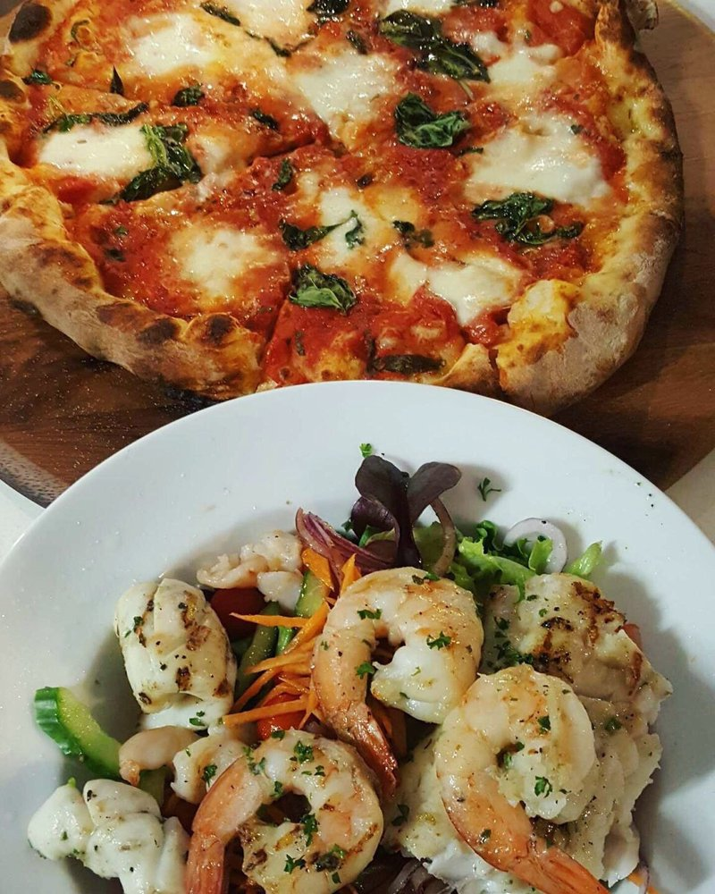 Chargrilled Seafood Pizza Yelp