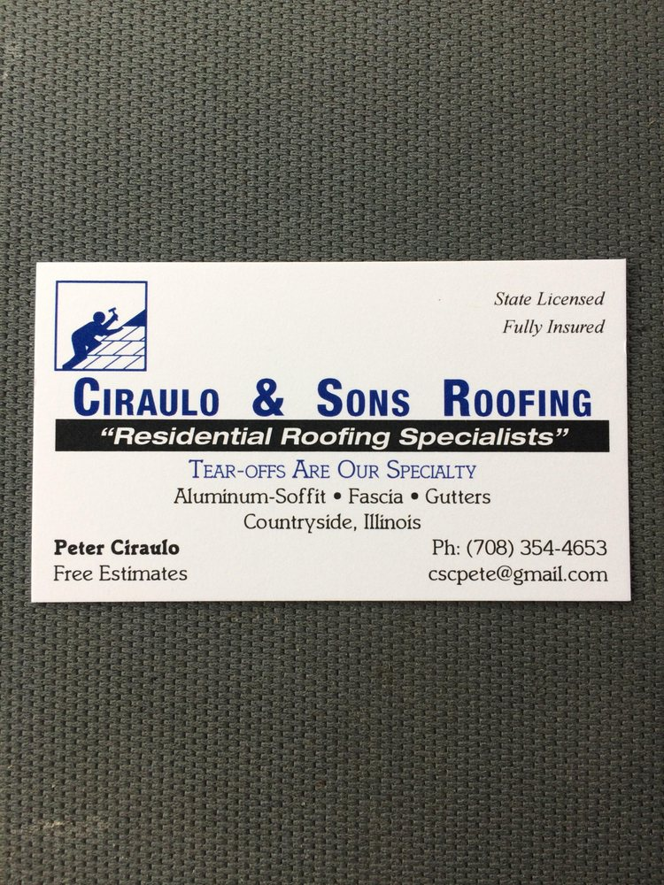 Ciraulo & Sons Roofing: 10601 Stalford Rd, Countryside, IL
