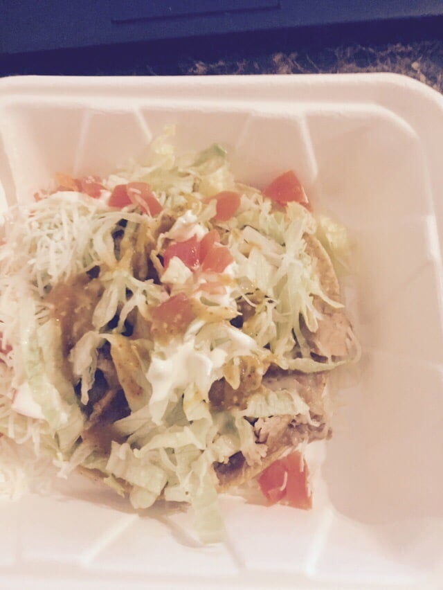 Shredded Chicken Tostada Yelp