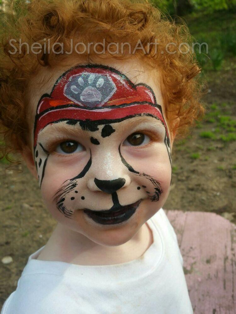 Marshall Paw Patrol face paint. Sheila Jordan Art - Yelp