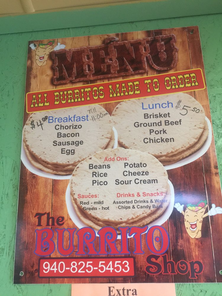 The Burrito Shop: 203 A W Hwy 82, Nocona, TX