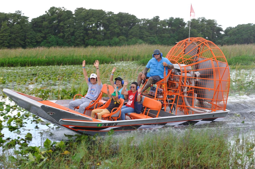Boggy Creek Airboat Adventures: 2001 E Southport Rd, Kissimmee, FL