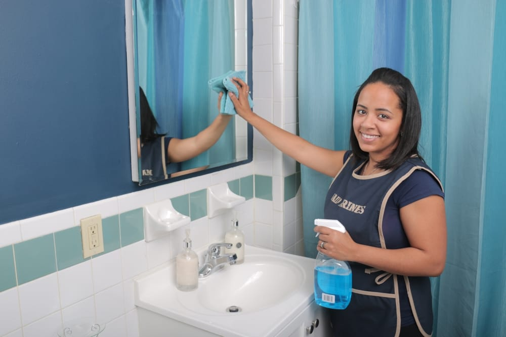 Maid Marines Cleaning Service Photos Reviews Home - Bathroom cleaning lady