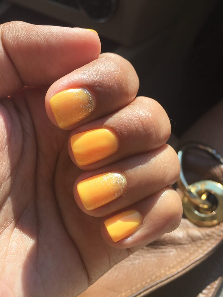 Love these mango colored gel nails! Thanks Rosy!!! - Yelp