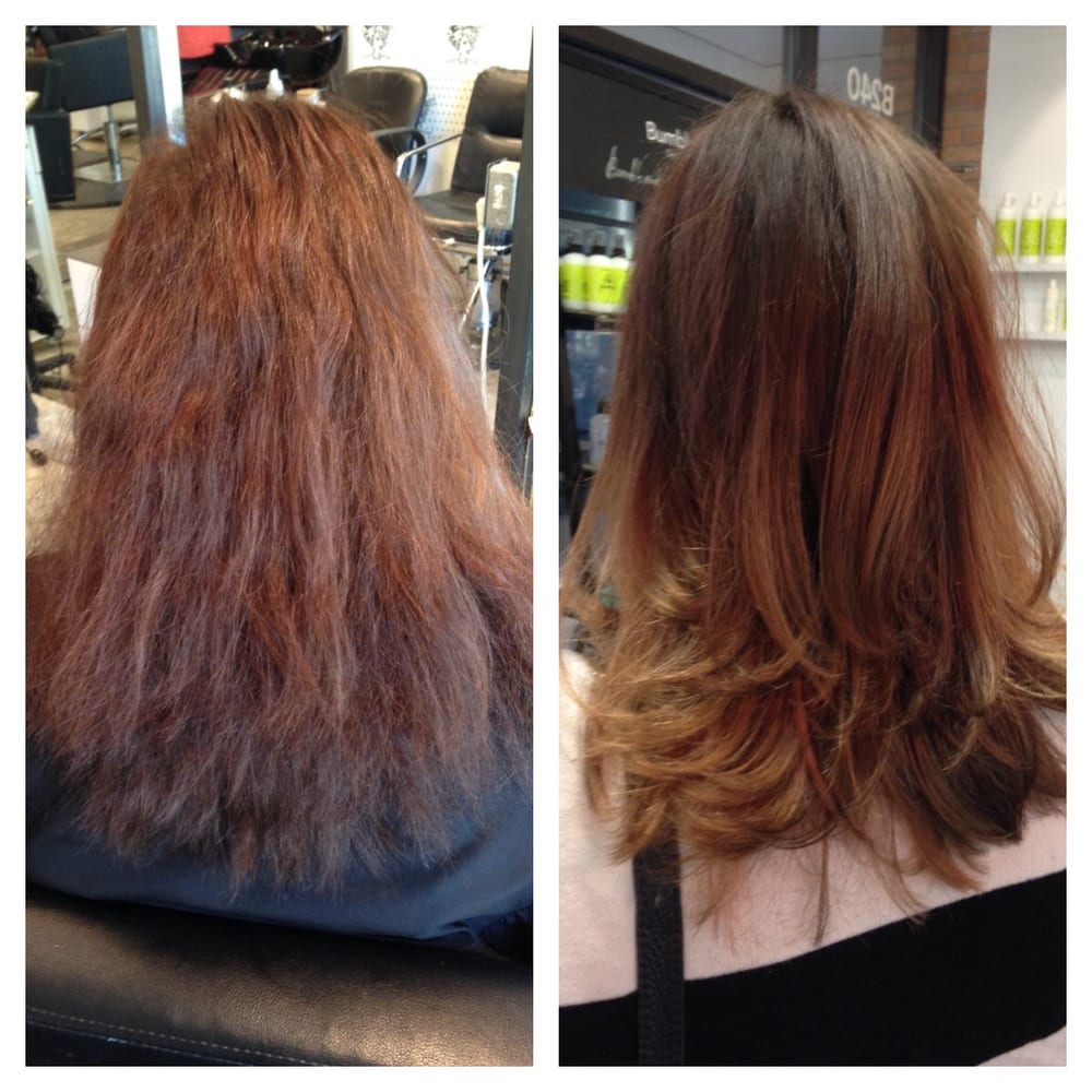 Before/After by Sharon. Balayage, haircut, Brazilian ...