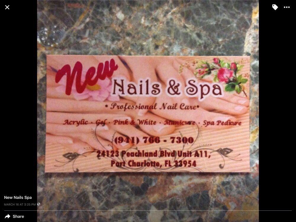 New Nails & Spa: 24123 Peachland Blvd, Port Charlotte, FL