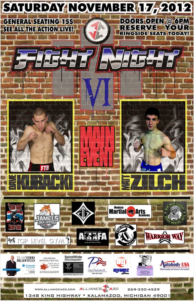 Alliance AZO Martial Arts Training Center: 1348 King Hwy, Kalamazoo Township, MI