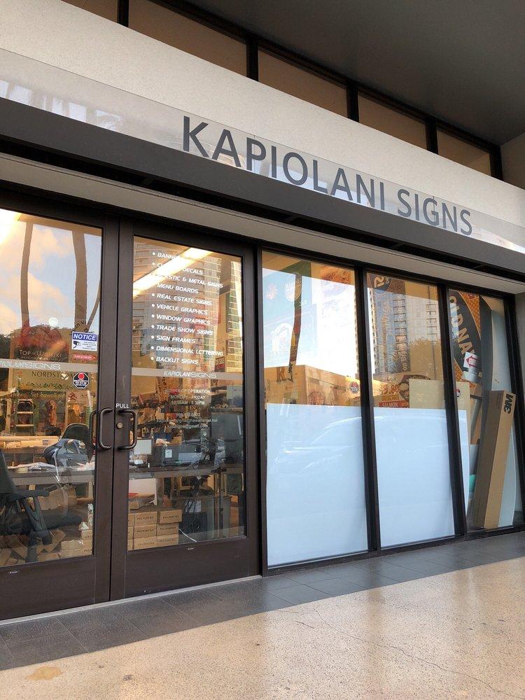 Kapiolani Signs