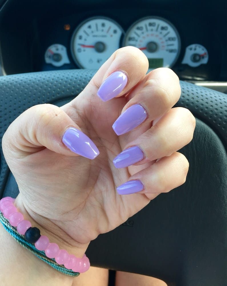 Beautiful Lavender Coffin Nails By Cindy I M In Love I Can T Stop