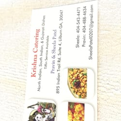 Photo Of Krishna Catering Norcross Ga United States Their Business Card