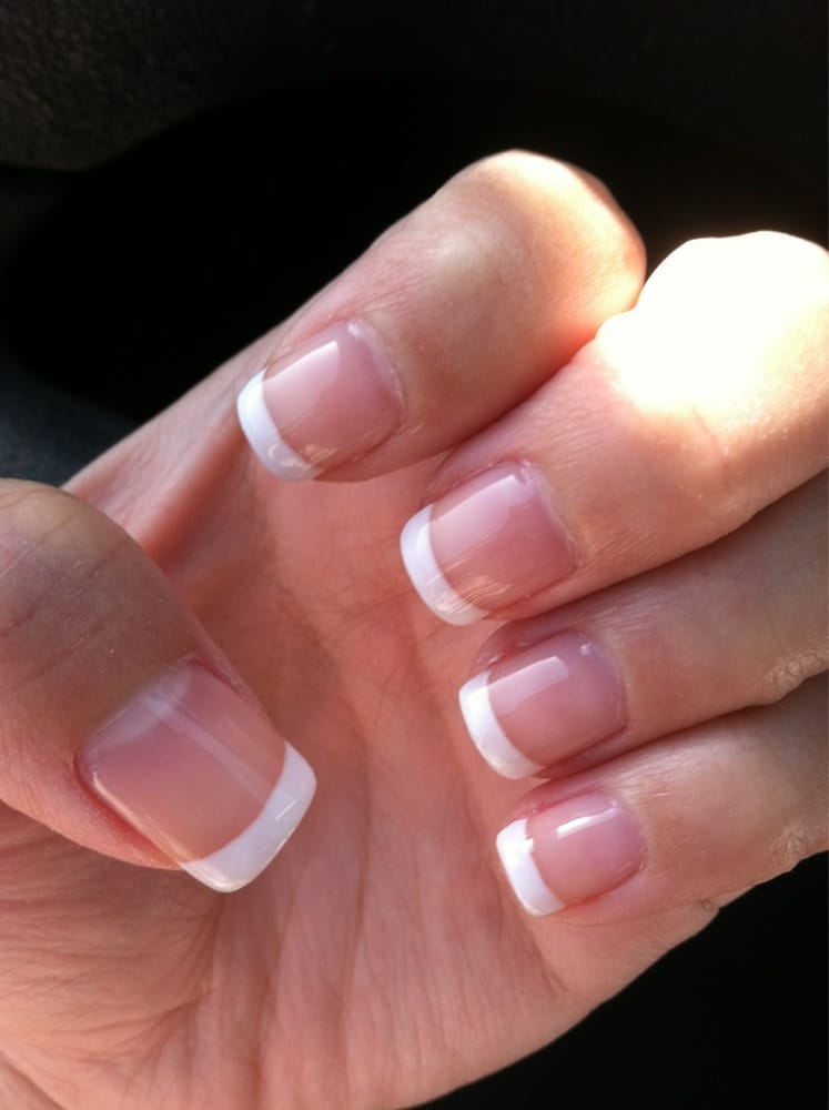 Gel French tip no manicure...15 dollars - Yelp