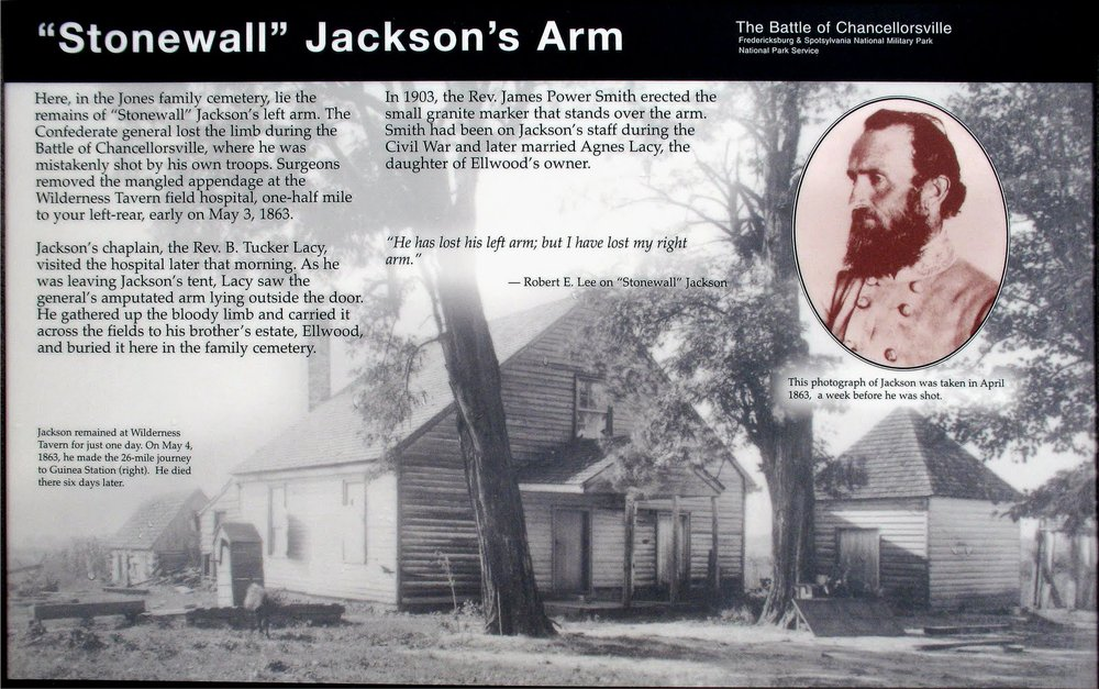 Burial Place of Stonewall Jackson's Arm: 36380 Constitution Highway Route 20, Locust Grove, VA