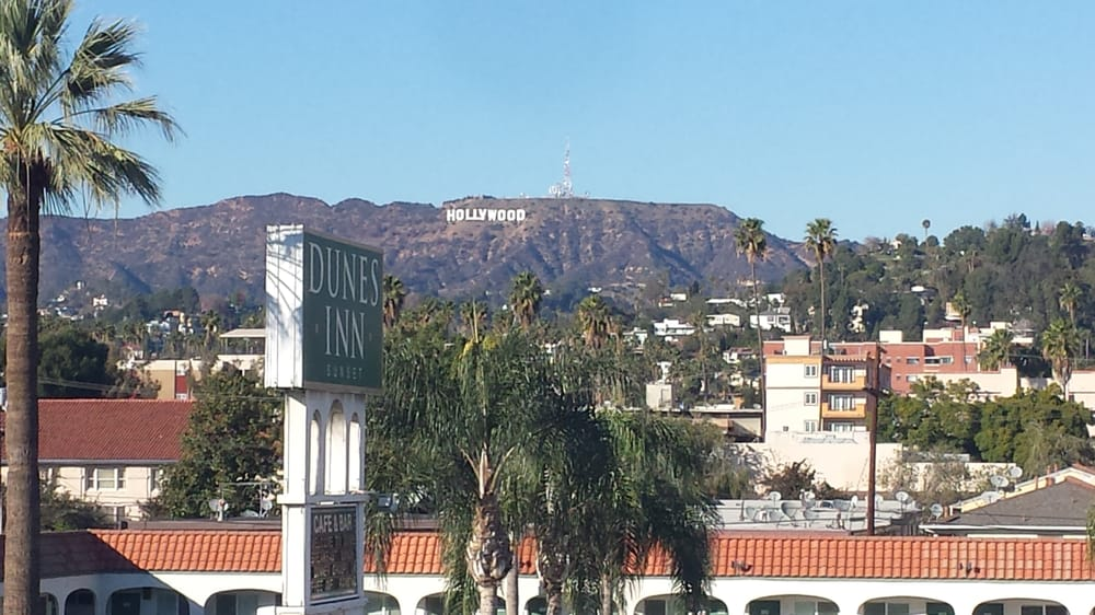 Hollywood sign from Home Depot roof top parking  - Yelp