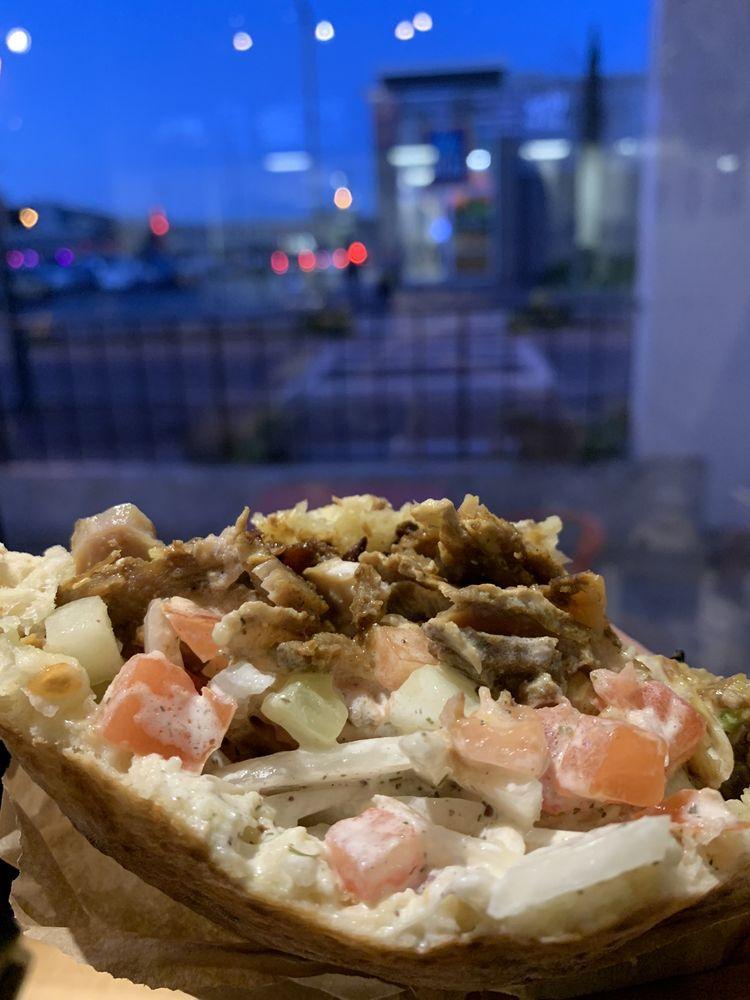 Food from Mr. Shawarma