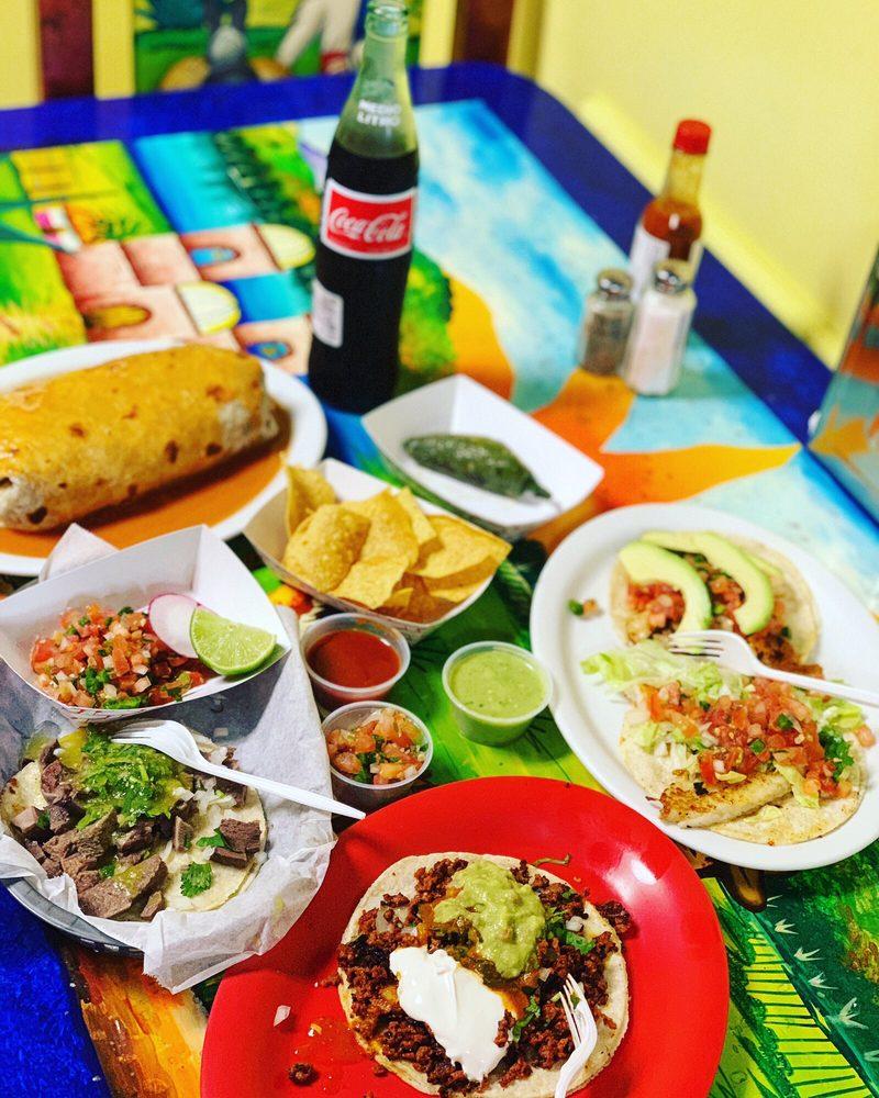 Food from Taqueria El Metate