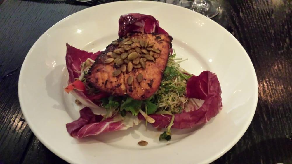 Wok charred salmon yelp for Prime fish miami