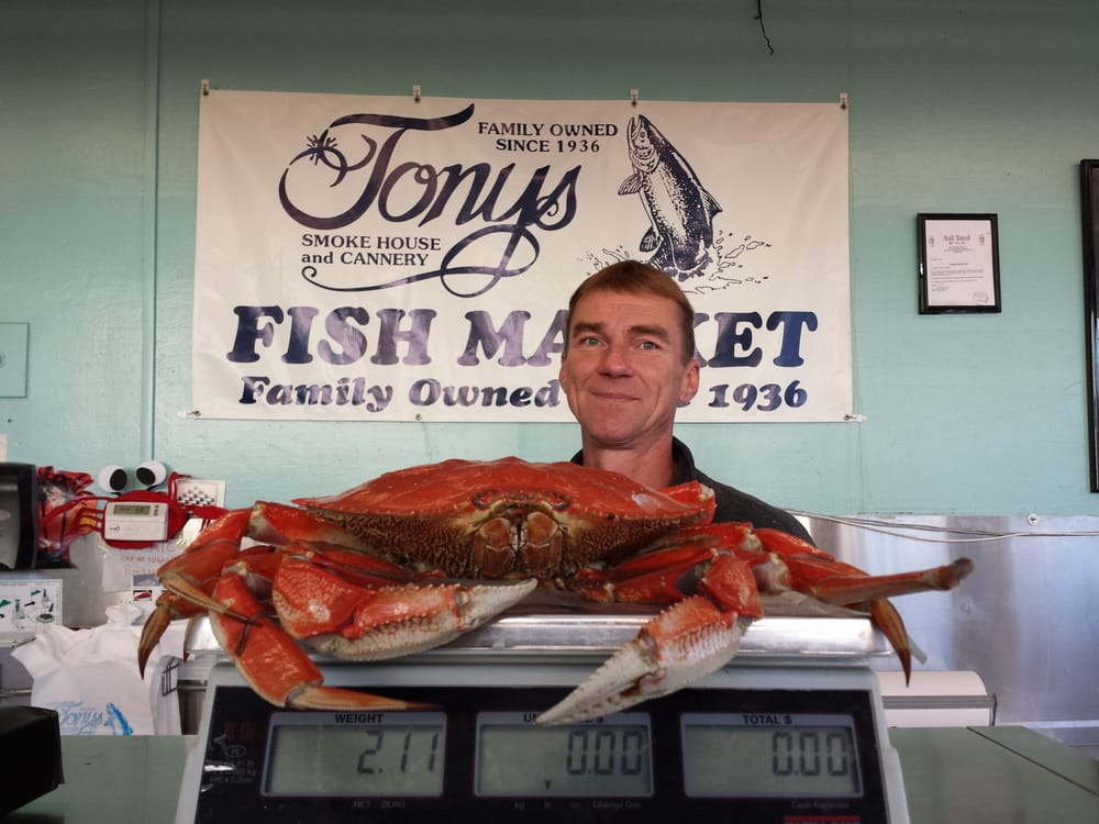 Fresh crab yelp for Tonys fish market