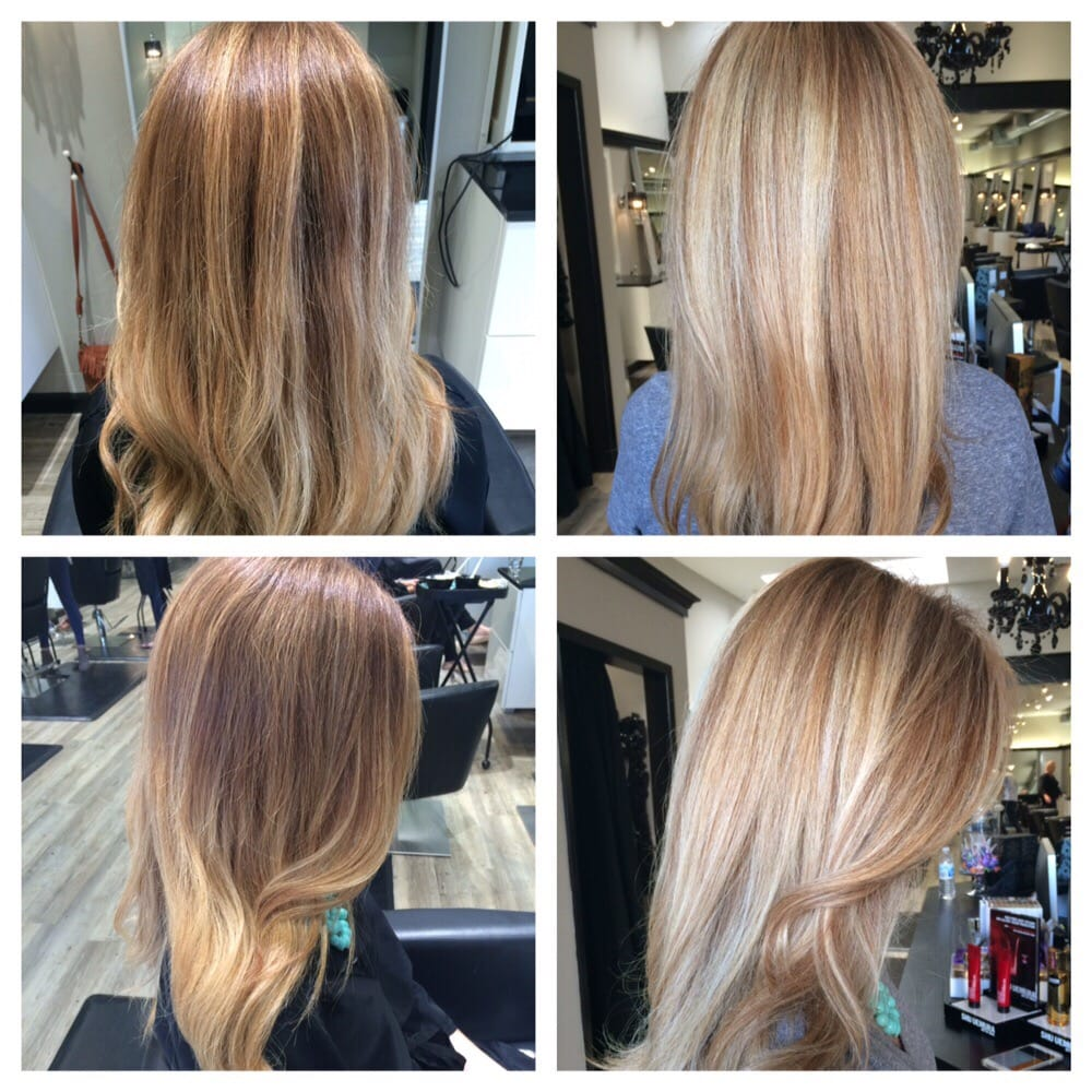 Highlights hair painting by sheena yelp for 13 salon walnut creek
