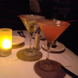 Il Fresco - Orangeburg, NY, United States. Just peachy and straight vodka martinis.
