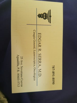 Edgar serra md general surgeon surgeons av severiano cuevas 25 photo of edgar serra md general surgeon aguadilla puerto rico puerto rico business card colourmoves