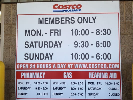 Costco Food Court Hours Chula Vista
