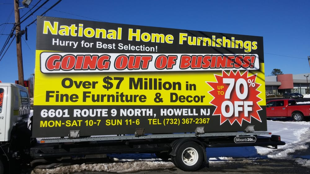 National Home Furnishings Closed Furniture Stores